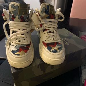 Valentino Star High-Top Sneakers